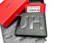 MEN'S HUGO BOSS Leather Wallet Black 'Victorian L 4 cc' Bi-fold RRP £99 BOXED