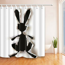 New Unique Design Custom Rabbit wall Waterproof Bathroom Shower Curtain 72x72 in