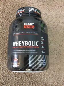 GNC AMP Wheybolic - Chocolate Fudge Protein 3.44lb/ 55.11oz  I651
