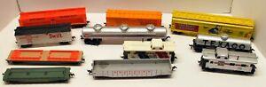 Lot of 10 TYCO & 1 LIMA HO Scale  Railroad Cars.