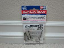 BRAND NEW TAMIYA MINI 4WD 15454 2MM CAP SCREW SET (25MM, 30MM) USA SELLER