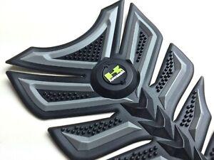 3D Rubber Motorbike Motorcycle Tank Pad Kawasaki Ninja ZX H2R Z series (Type 5)