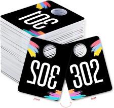 Plastic Number Tags Sale Normal Reverse Mirror Image Hanger Cards Businesse
