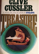 Treasure by Clive Cussler Hardcover Back Book VF* True First Edition 1st