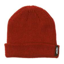 Vans Off The Wall Mismoedig Beanie Rust Red Cuff Hat 100% Acrylic New NWT