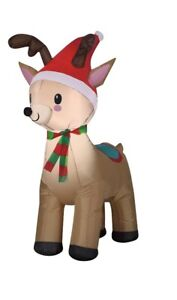 Holiday Time Reindeer Inflatable, 4ft Tall