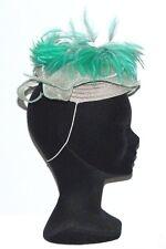 CHAPEAU taille unique CHERI BIBI de ceremonie femme mariage vert gris grey hat