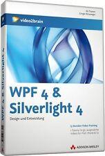 video2brain WPF 4 & Silverlight 4, 13 Stunden Video-Training auf DVD, NEU