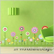 Happy Flower Wall Decor Vinyl Sticker Decal Deco Removable Nursery Kids Art Baby