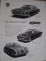 The Sheer Joy of Jaguar motor car advert 1964