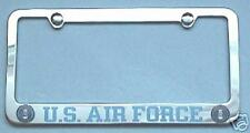 US AIR FORCE - License Plate Frame With Logos Plain
