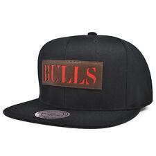 Chicago Bulls LASER CUT LEATHER Snapback Mitchell & Ness NBA Hat