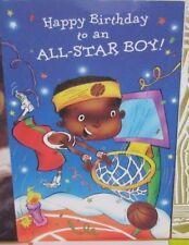 Large American Greetings Baobab Child's birthday card ~  baskeetball player