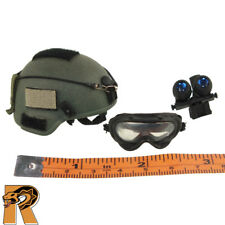 Delta Special Forces - Helmet w/ Goggles - 1/6 Scale - Flagset Action Figures