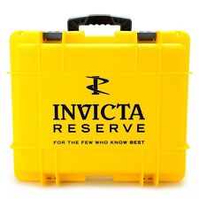 New Invicta 15 Slot Impact Hard Yellow Dive Storage Collector Waterproof Case