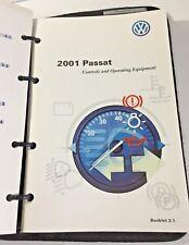 2001 Volkswagen Passat Owner's Guide Manual Book with Case Set VW Pen