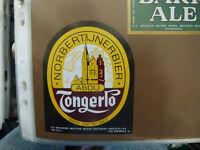 VINTAGE BELGIUM BEER LABEL. MARINE BREWERY - NORBERTIJNER BEER