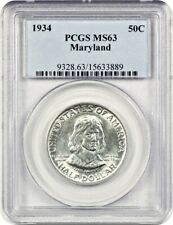 1934 Maryland 50c PCGS MS63 - Silver Classic Commemorative