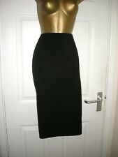 12 VERY BLACK PENCIL SKIRT SATIN SIDE STRIPE TUX STYLE WIGGLE SUMMER PARTY HEN