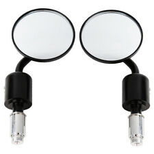 """Universal Motor 3"""" Round 7/8"""" Handle Bar End Rearview Side Mirrors Fit For HONDA"""