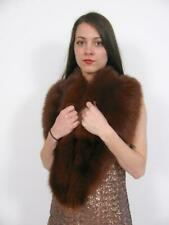 REAL MINK FUR STOLE SHAWL WRAP CAPE CAPELET AUBURN RED BROWN COLLAR JACKET COAT