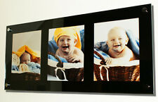 "Wall mount acrylic multi picture photo frame for 3x 10X8 ""/10x7"" or 9x7"" photo"