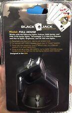 Blackjack Full House Firefighter Helmet Aluminum Flashlight Holder Black Jack