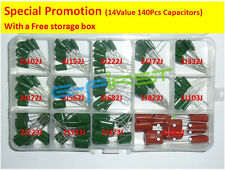 630V 14value 140pcs Polyester Film capacitor assorted kit box assorstment