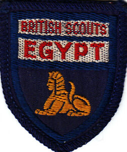 Boy Scout Badge ++Ext EGYPT British Groups Abroad