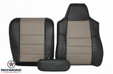 2005 Ford Excursion Eddie -Driver Side Complete LEATHER Seat Covers Black/Tan