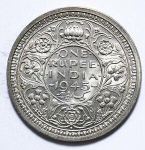 1945, India British, 1 Rupee, George VI, aUNC, Silver, KM# 557, Lot [1572]