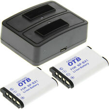 Duo Ladegerät + 2 Akkus Typ Sony NP-BX1 Ladestation Accu Battery Ersatzakku