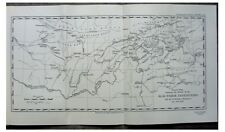 1929 Rickmers - ALAI PAMIRS - Russia - NOMADIC TRIBES - Colour Route Map - 9