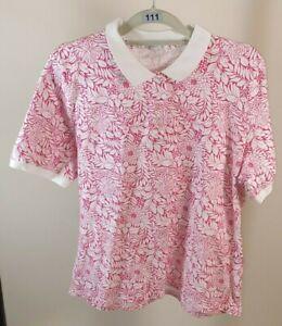Victoria Hill T Shirt Size L Women's Ladies Pink T shirt Women's Collar T shirt