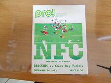 1972 WASHINGTON REDSKINS PLAYOFF PROGRAMS VS GREEN BAY