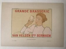 1897 linen-backed Armand Rassenfosse lithograph from Les Affiches Etrangeres