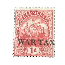 BERMUDA, SCOTT # MR2 1p. VALUE CARMINE 1920 CARAVEL ISSUE MVLH