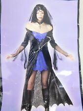 Gothic Sorceress Sexy Witch Halloween Costume Adult Medium Dress Only #5250