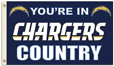 Los Angeles Chargers Huge 3'x5' Nfl Licensed Country Flag/Banner - Free Shipping