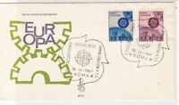 Italy 1967 Europa Linked Cogs CEPT Slogan Cancels FDC Stamp Cover ref 22436