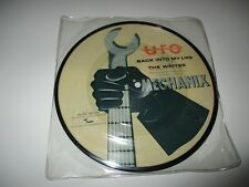 """UFO Back Into My Life/ The Writer Vinyl Picture Disc 7"""" 45 RPM 1982 UK Imp NEW"""