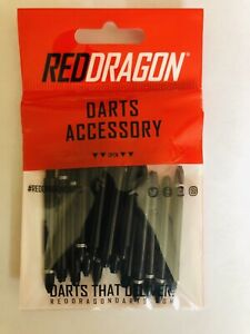 5 X Sets Of Black Red Dragon Medium Dart Stems Rings