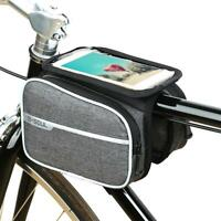 Bike Bicycle Front Top Tube Frame Pannier Saddle Bag Touch Screen Phone Holder