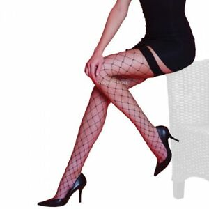 Quality Stockings UK Made Silky Whale Net Stockings Black One Size