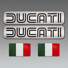 DUCATI - 4 Stück Aufkleber 2 x DUCATI + 2 x ITALIA - Caferacer Oldschool Vintage