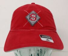 new product 1d523 70cfe Adidas North Carolina State Wolf-Pack Women s Red Curved Mesh Hat