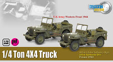 DRAGON ARMOUR 1/72 MILITAIRE 2 JEEP 1/4 TON 4X4 US ARMY WEST FRONT 1944 Ref60505