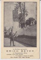 """Erich Beyer [Weltreisender] - AK """"Araber-Moschee in ALCAZARQUIVIR"""", Afrika 1927"""