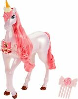 Barbie Dreamtopia Unicorn Ages 3+ Toy Horse Doll Play Pink Candy Brush Pony Gift
