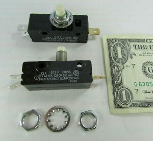 Lot 2 Cherry E13 15A Normally Open/Closed Pushbutton Switch 125/250 VAC E13-65L0